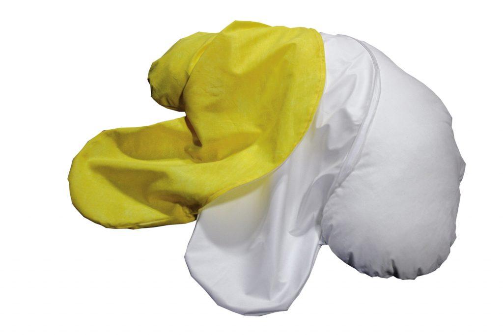 Baumwollinlett + Polyurethan-Nässeschutz-Bezug + Baumwollbezug zusammen.