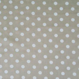 """Kissenbezug für Lagerungskissen """"Sixties beige Dessin"""": beiges Stoffdesign mit Punkten für Kissenbezüge aus Baumwolle"""