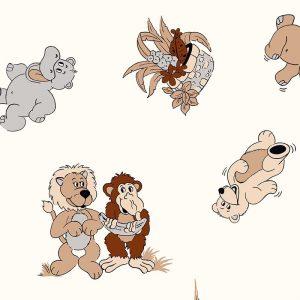 """Kissenbezüge mit Kindermotiven: Stoffdesign für Kinderkissen-Bezug """"Dschungel Dessin"""""""