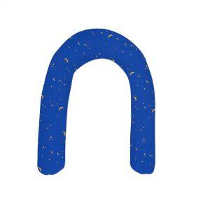 Kissenbezug für U-Positionierungskissen für Kinder (ca. 220 x 20 cm), Farbe Farbe Blau, Mond und Sterne: Centre®Lagerungskissen