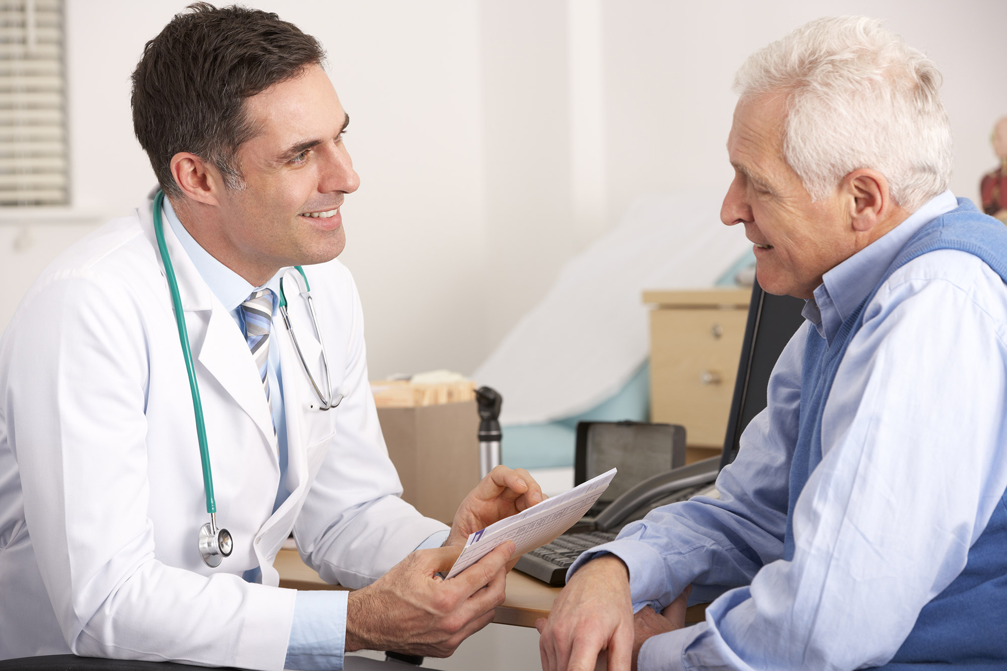 Patient und Arzt im Gespräch
