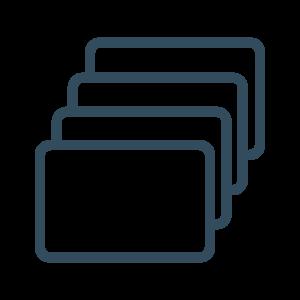 Icon Füllmaterialien: Lagerungskissen mit  vier verschiedenen Füllmaterialien